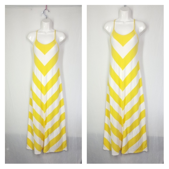 GAP Dresses & Skirts - Gap maxi dress, symmetric, size XS, yellow & white
